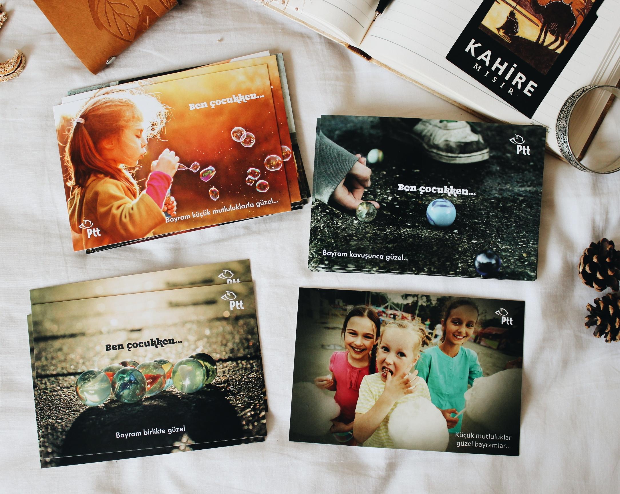 PTT'nin özel günlerde bastırdığı ücretsiz kartpostallar
